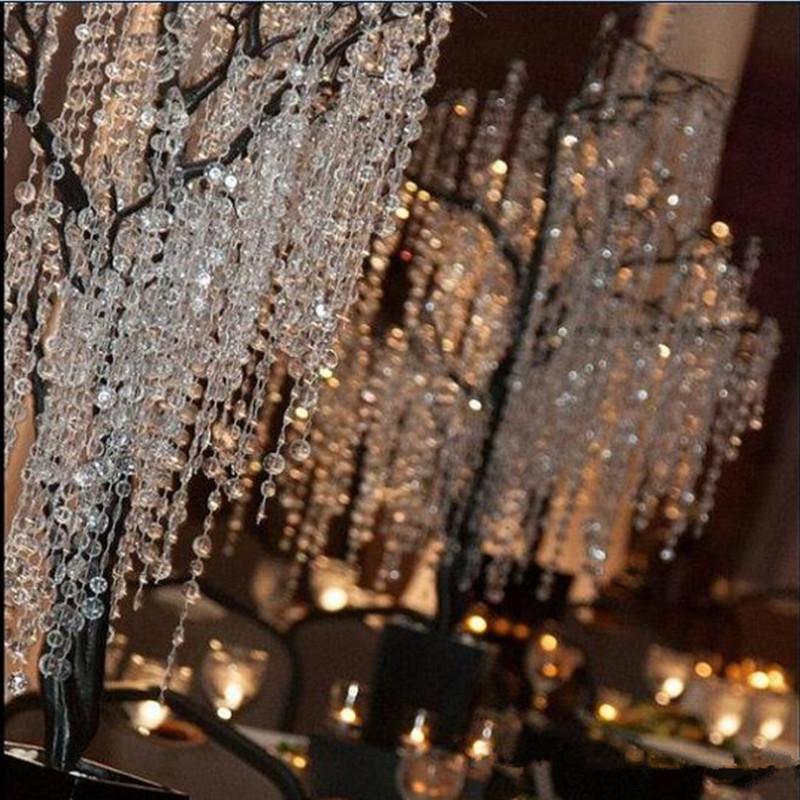 30m / 99ft / roll decor decor 14mm acrilico ottagonale in rilievo trasparente cristallo cristallo trefoli per la decorazione di nozze lampadario Consegna gratuita