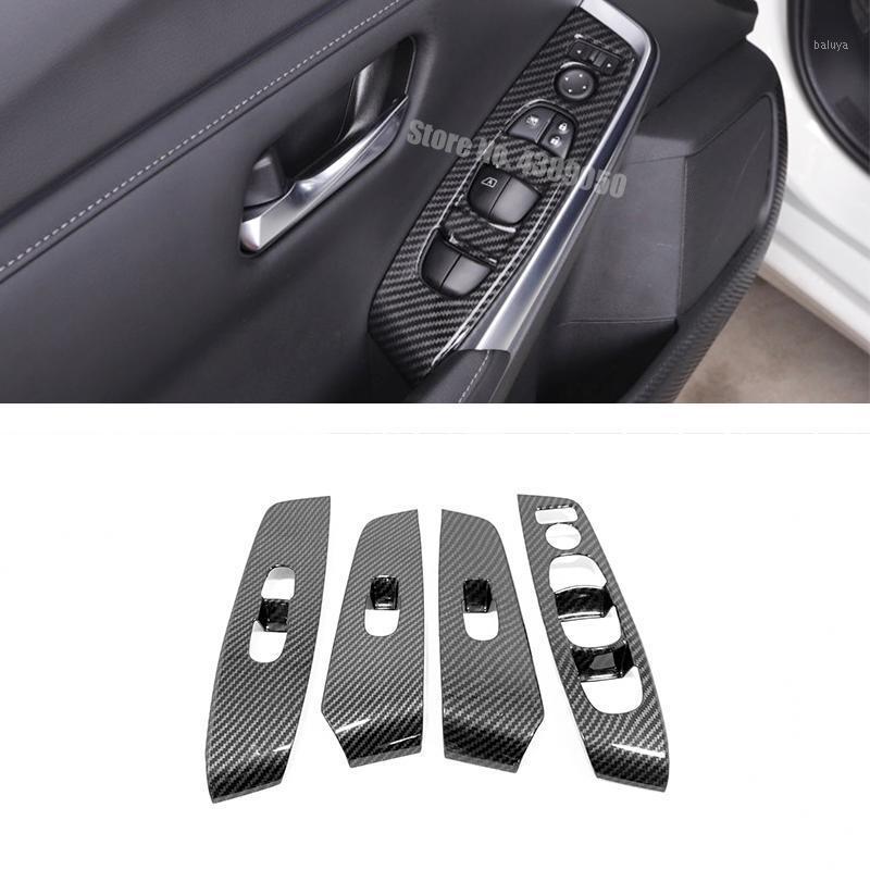 Autres accessoires d'intérieur en plastique ABS pour Sentra 2021 LHD Fenêtre de porte LHD Verre Subscripteur de commande Switch Panneau Couvre-Panneau Trim Styling 4PCS1