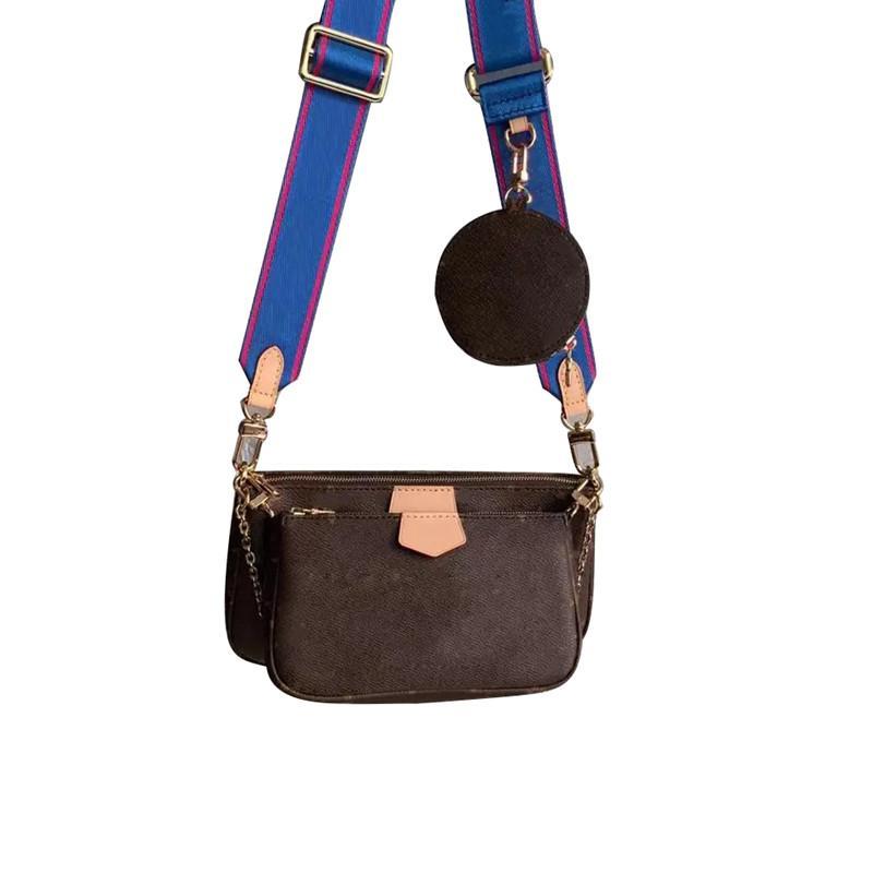 Dreiteilig Clutch Weiseluxuxfrauen Tote Entwerfer-echtes Leder-Rindleder-hochwertiger Mode Marke Kleine Geldbeutel-Dame-Schulter-Beutel
