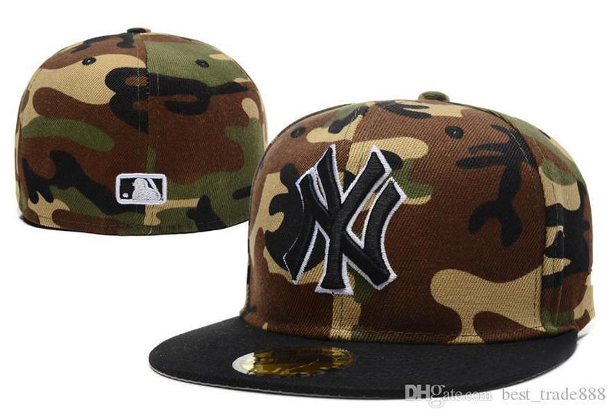 الرجال والنساء قبعات البيسبول القبعات نيويورك الكلاسيكية كاملة مغلقة مجهزة قبعة التطريز فريق نيويورك شعار المشجعين قبعة البيسبول أعلى جودة