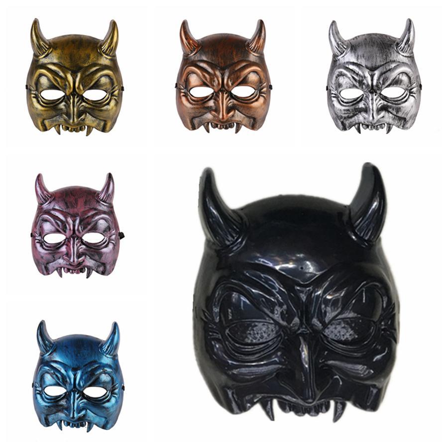 Máscaras demonstram festiva casa plástica demoníaca máscara de halloween festa suprimentos 6styles rra2