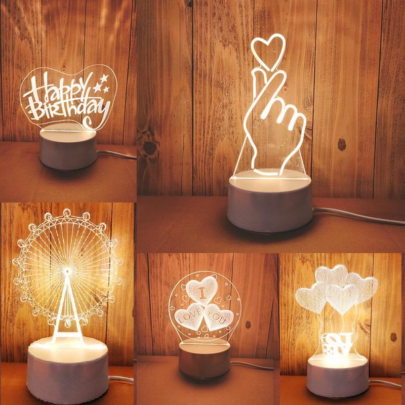 hot sale 3D LED Table Light Jellyfish Owl Night Light ABS+Resin Multi-design Lamp for Children Bedroom wholesale
