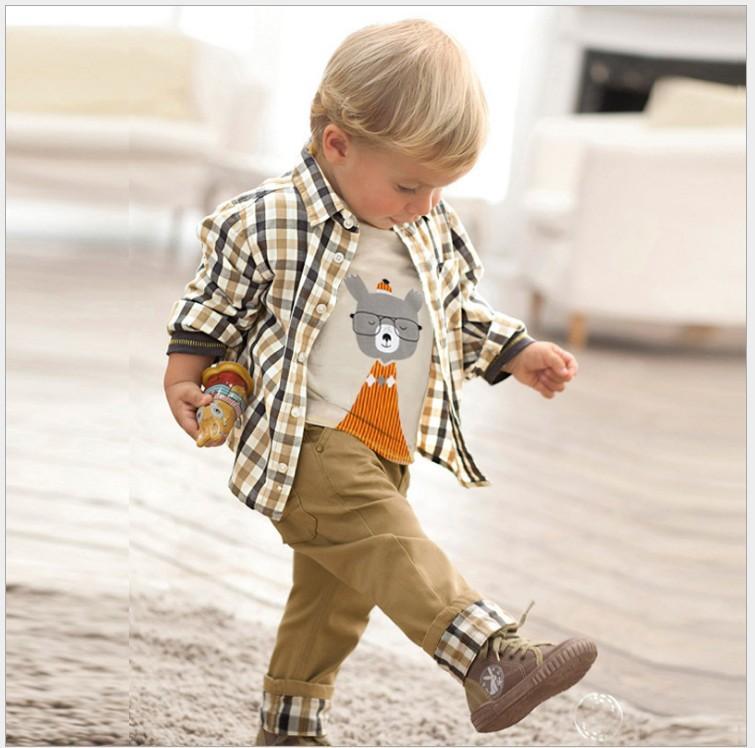 Трехфункциональные наборы для мальчиков для мальчиков одежда наборы одежды весна осень детей с длинным рукавом рубашка + футболка + брюки детей повседневный набор мальчик костюм