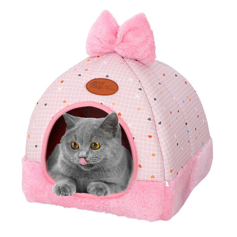 كلب القط السرير أريكة الدفارة الكلاب منزل الحيوانات الأليفة الأسرة الصغيرة المتوسطة الحيوانات الأليفة الكلاب سرير عش البيت الشتاء بيت الكلب لجرو