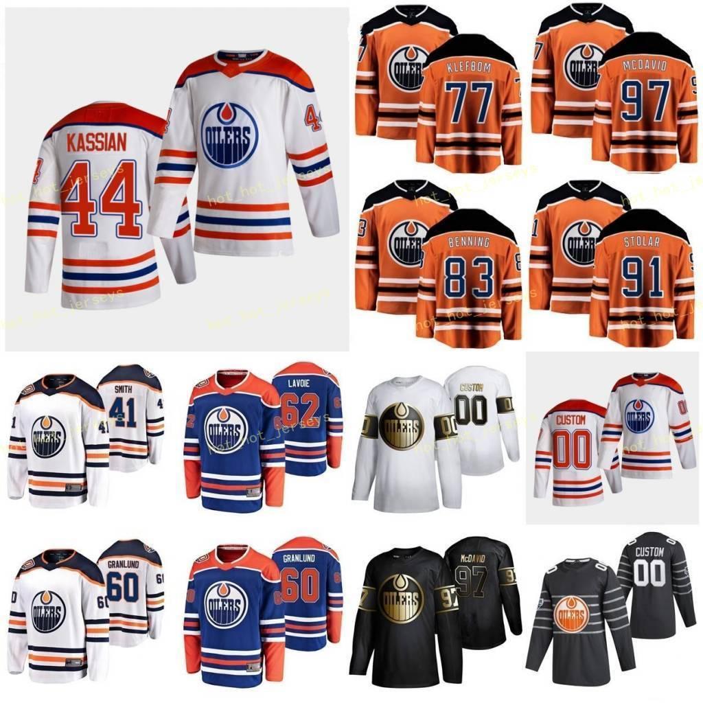 맞춤형 Edmonton oilers Nygard Joakim 10 Puljujarvi Jesse 13 Quine Alan 26 Russell Kris 4 Russell Patrick 52 남성 여성 청소년 스티치