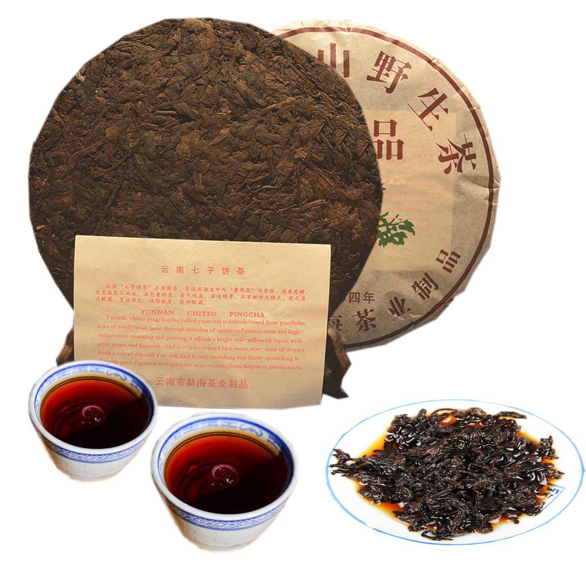 357g yunnan yiwu sauvage puer puer thé biologique puer arbre cuit puer naturel puerh noir puer gâteau gâteau ventes directes