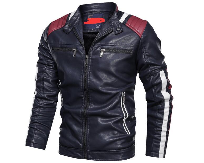 Giacca casual in pelle Giacca maschile tattico militare 6xL PU cappotto in pelle uomini 2020 inverno militare casual Leahter giacca maschio moto
