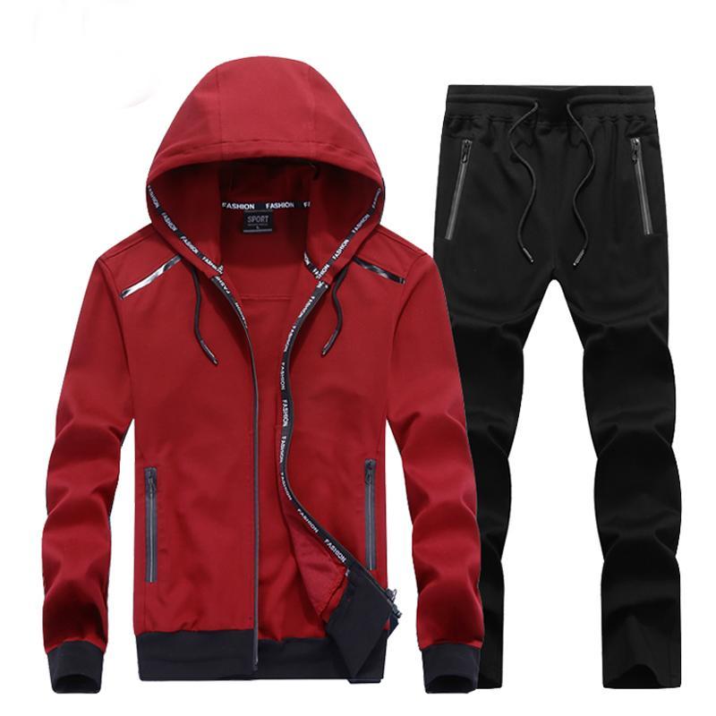 140 kg KANN MEN PACK PACK ELASTIC Plus Size Hoodie Set Winddichte Gym Sportbekleidung 7XL 8XL 9XL LOSSE Sportsuit Mann Run Sets