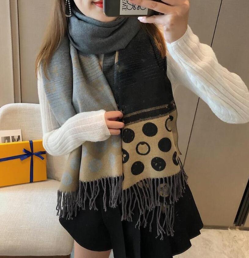 2021 Neue Designer Schals Frauen Luxuriouscarf Tücher Großhandel Hohe Qualität Schal Winter Schals 180 * 65 cm 6colors Freies Verschiffen
