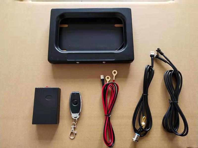 2020 USA Metal Motorcycle Control Remoto Placa Soporte de la placa, Cubierta de privacidad, Marco de la placa de licencia oculta stealth