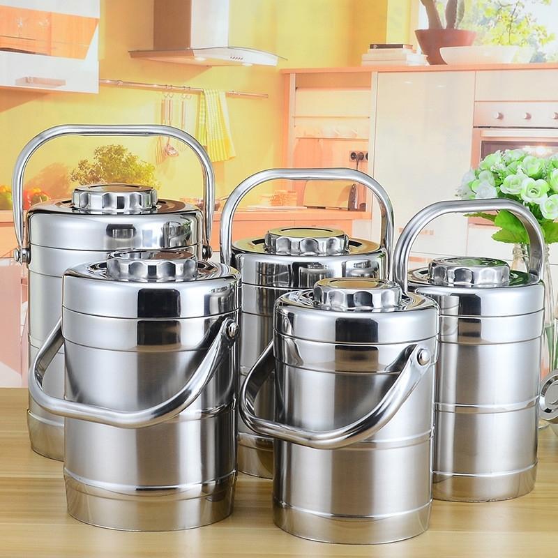 Grande capacità Isolato Thermos Pranch Box Acciaio inox Contenitore per alimenti termici per adulti Picnic Bento Box Portatile Lunchbox 201015
