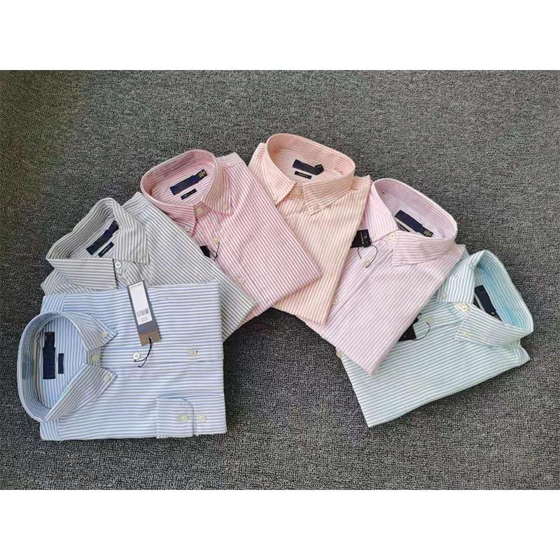 ralph lauren 망 드레스 셔츠 패션 캐주얼 셔츠 브랜드 남성 셔츠 봄 가을 슬림 셔츠 화학 물질 드 Marque 쏟아지는 햄스 O6UP