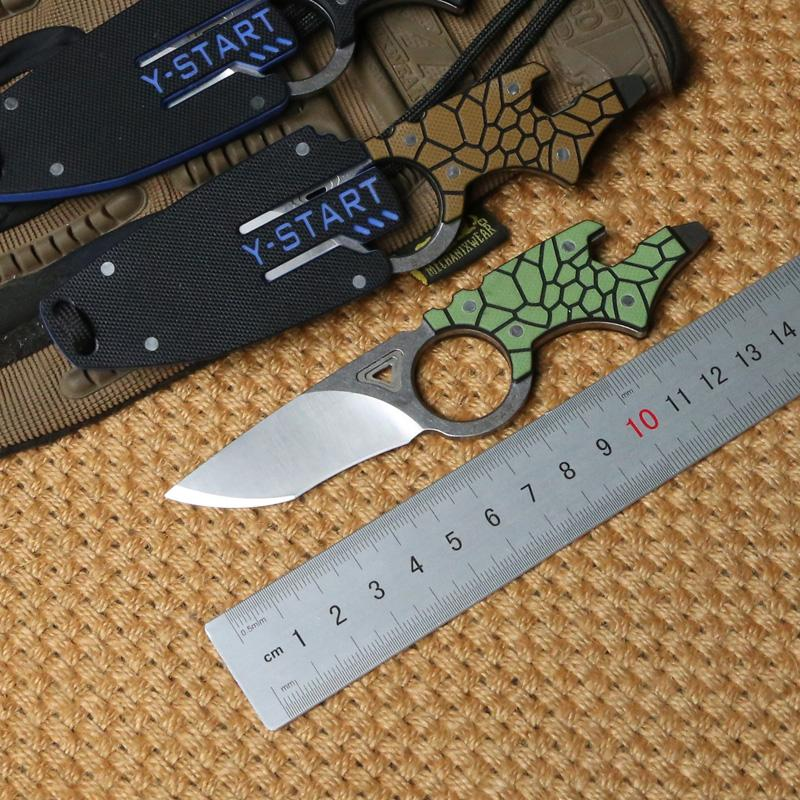 Y-START MK5002 knife D2 blade Tactical camping hunting G10 handle outdoors pocket survival knives fruit knife Tools gear