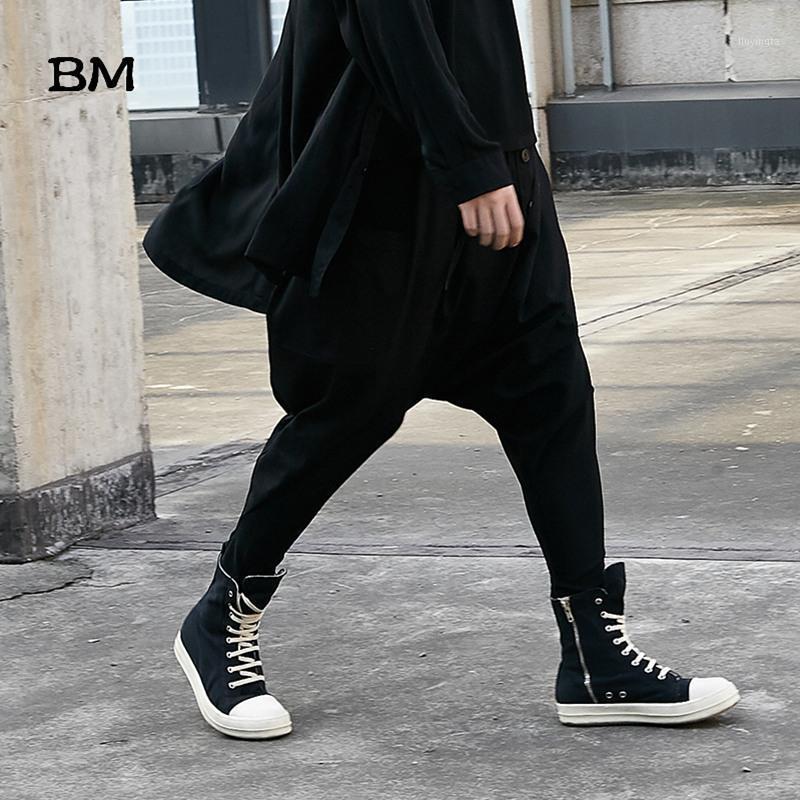 Männer Japan Stil Lose Casual Down Schritt Harem Hosen Männliche Streetwear Hip Hop Gothic Hose Männliche Jogger Joggänger Jogginghosen Dark1