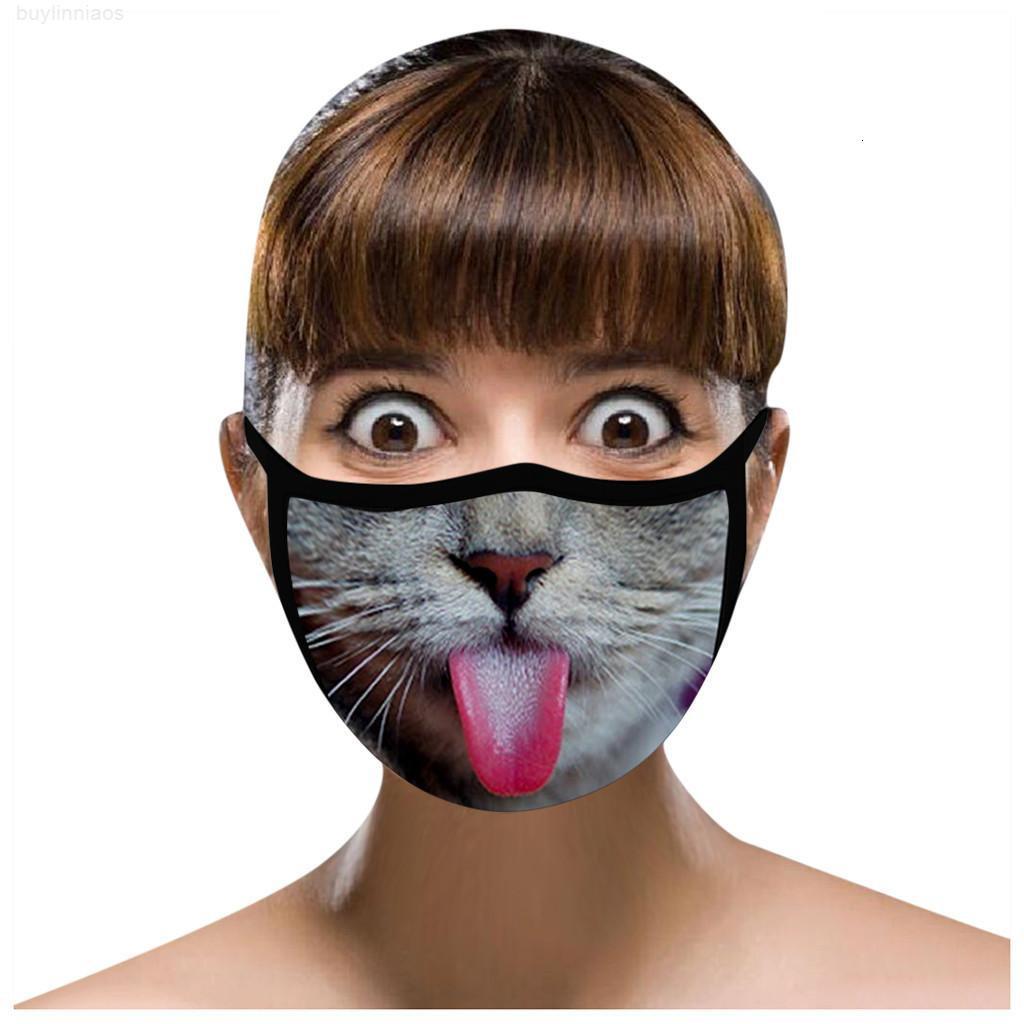 Cara lavable Jllexe Mascarillas reutilizables para adultos para una máscara linda del gato Moda de algodón Máscara de tela Fasemask Funda Decoración de fiesta Mascar Oelxa