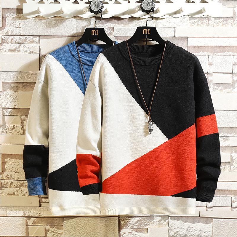 Suéter de hombres grandes, ropa de primavera, otoño e invierno, 2020, 5xl, 6xl, 7xl, estilo coreano, suéter estándar informal