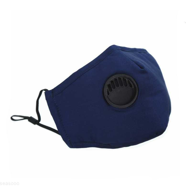 PM2.5 Reutilizável Unisex Algodão Máscaras de Máscaras de Algodão com máscara de boca de fôlego Máscara de tecido anti-poeira Máscara lavável Drop Drop Epack