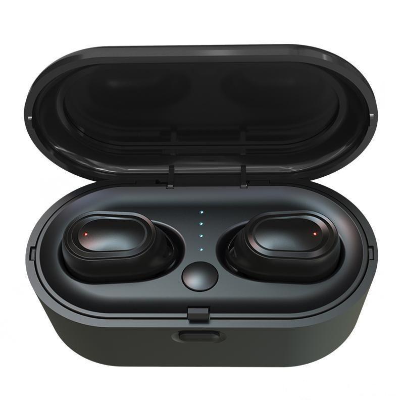TINA TWS Çift Bluetooth Kulaklık Mini 5.0 Spor Kulaklıklar Su Geçirmez Kulak Içinde Gerçek Kablosuz Kulaklıklar Cep Telefonu Air2 için Akülü Kulakiçi