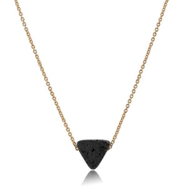 Collana della colonna esagonale del fascino della Boemia Collana lunga della collana di cristallo di cristallo della collana del pendente del triangolo del triangolo