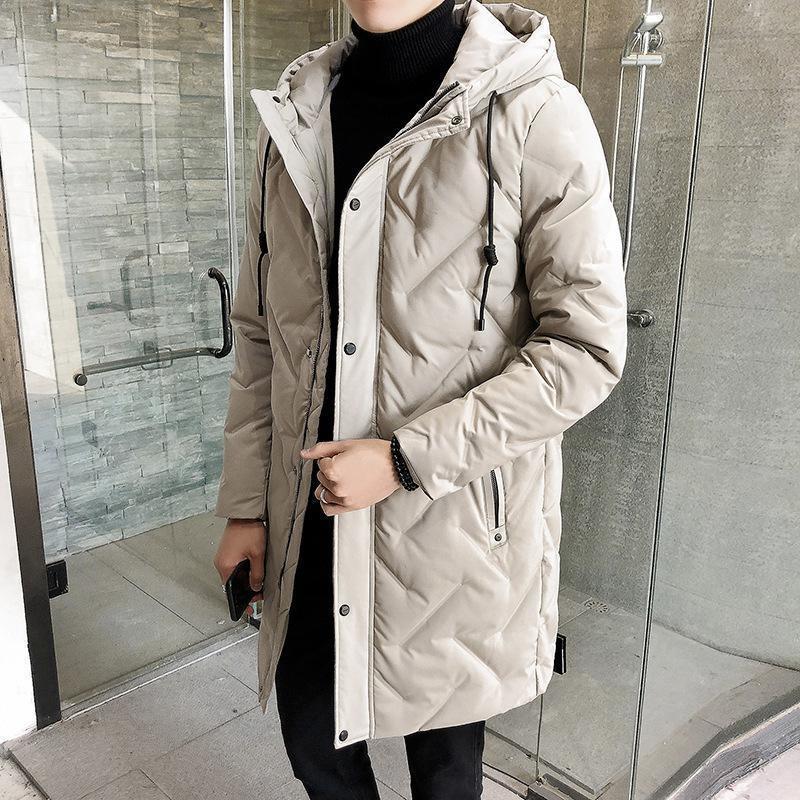 Nueva chaqueta de invierno con cremallera para hombre y sombrero Casual Abrigo de media y largo Hombres, DHL Free Ship