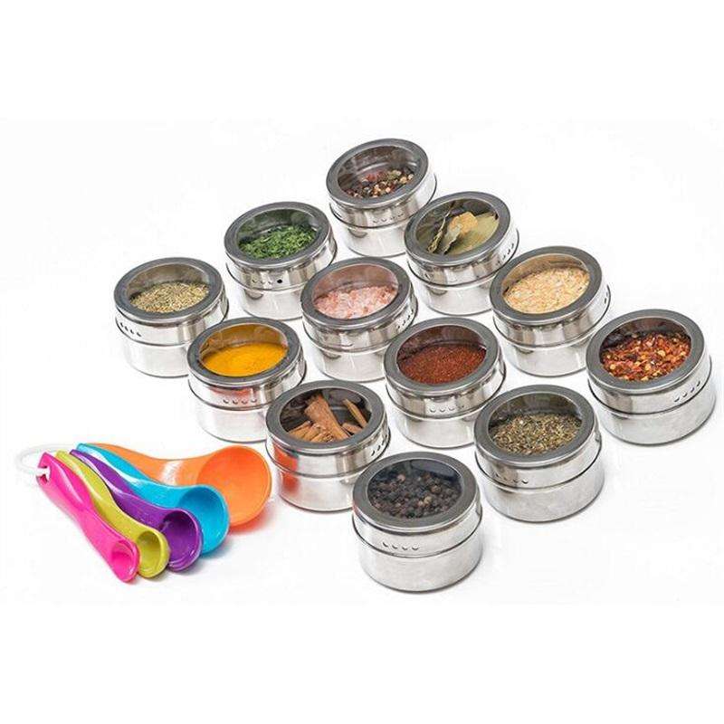 Stainless Steel Seasoning Pot Multifunctional Seasoning Bottle Practical Outdoor Portable Barbecue Seasoning Jar Kitchen Tool BWF3170