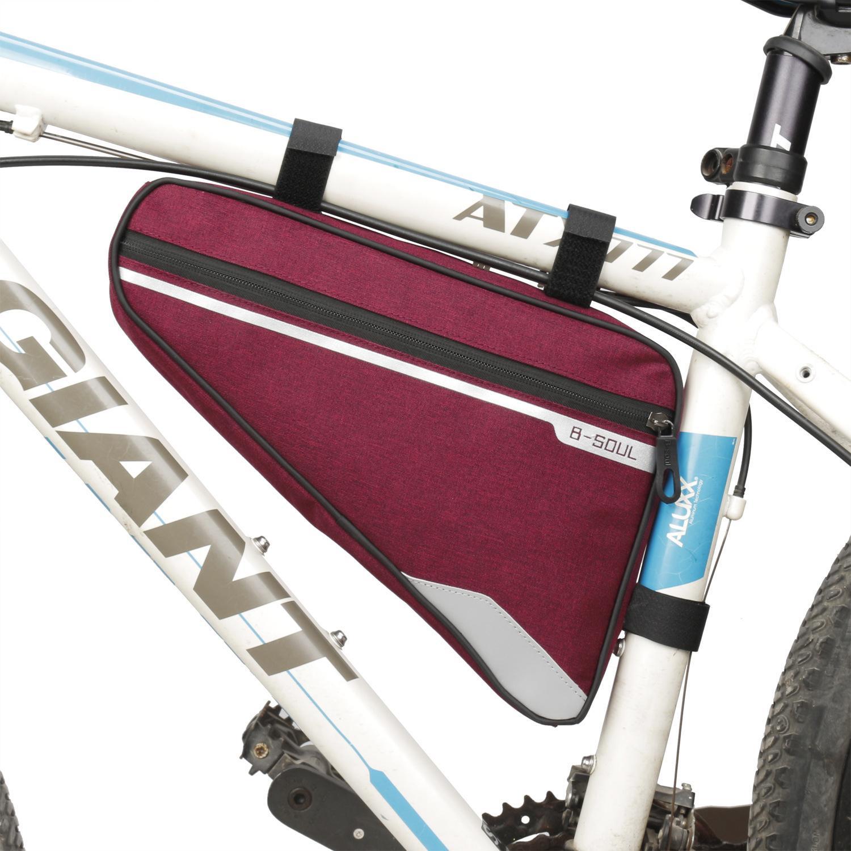 Bicicleta Bag Grande Capacidade MTB Estrada Frame Bag Triângulo Bolsa Impermeável Bicicleta Bolsa Pannier Acessórios 4 cores