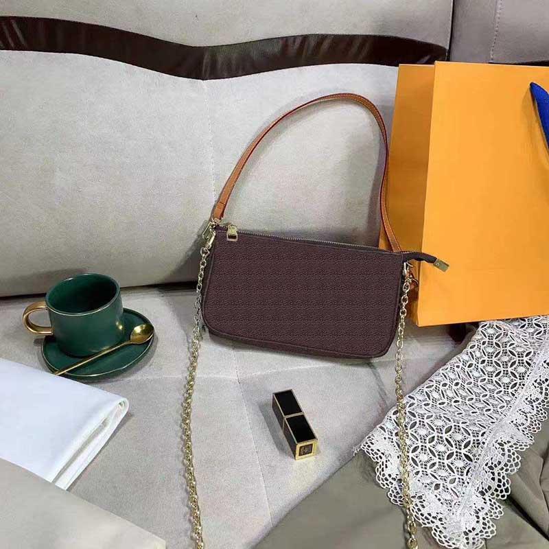 Nova Moda Senhora Saco De Ombro Alta Qualidade Marca Messenger Bag Lady Classic Bandbag Venda Quente Impressão Lady Wallet