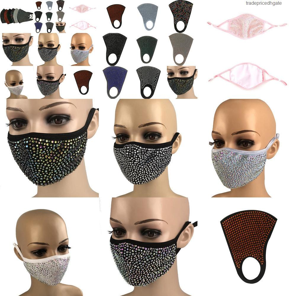 Pm2.5 Diamond Protective Fashion Bling Dustproof Mouth Mask Masks Washable Reusable Huzd 5pb6