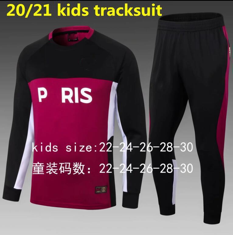 2019 2020 2021 Paris Football Kids Cousssuit Учебное костюм Выжитие 19 20 21 MBAPPE с длинным рукавом длинные брюки Длинные брюки