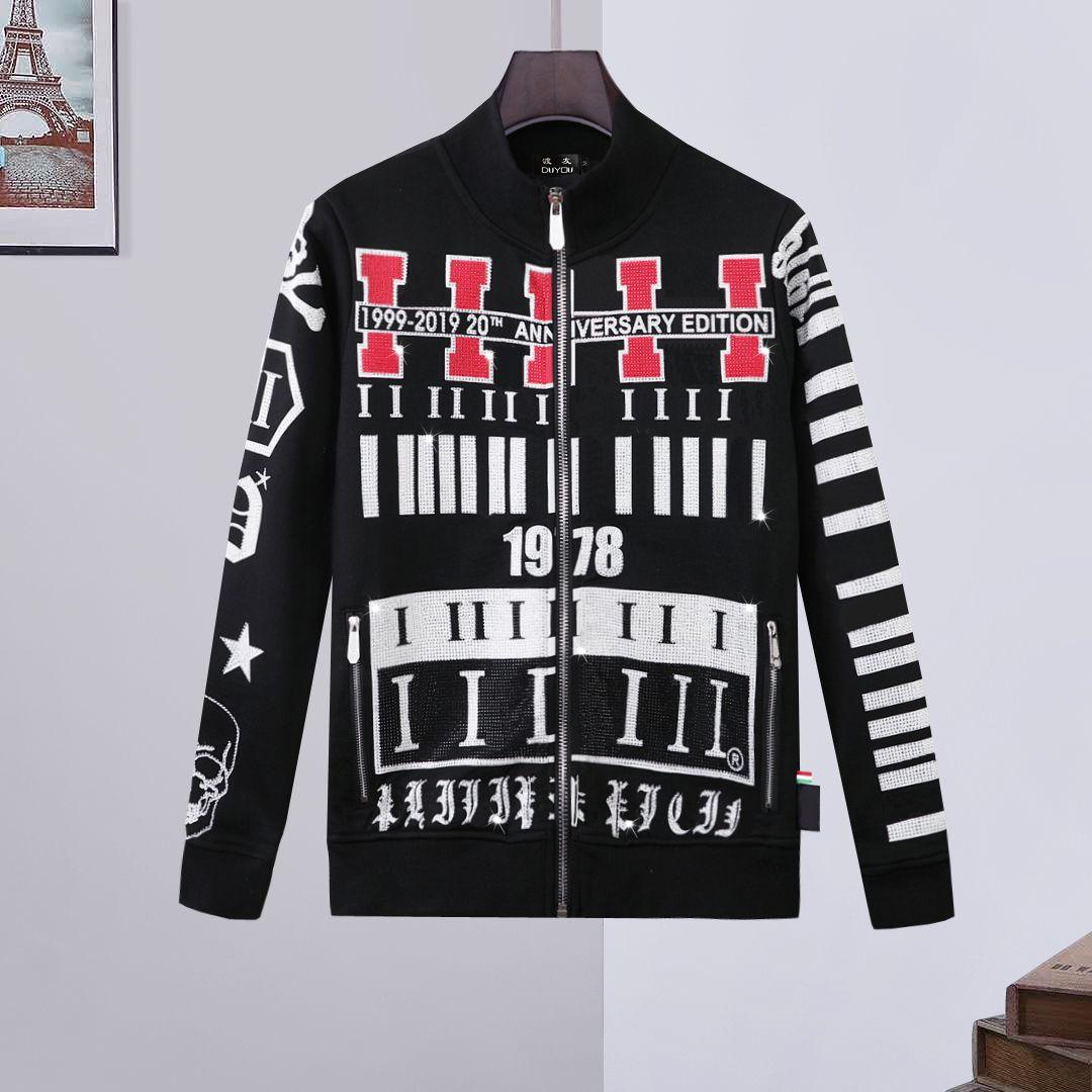 ماركة الملابس الخريف الشتاء جودة عالية سترة هوديي الرجال سترة معطف الذكور هوديس سوياتشيرتس الأزياء عارضة المعاطف 68691