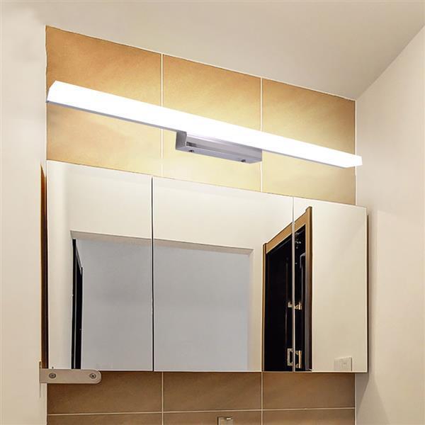 12 W 80 cm Yeni ve Akıllı Lamba Banyo Işıkları Bar Gümüş Beyaz Işık Yüksek Parlaklık Işıkları Üst dereceli Malzeme Aydınlatma Toptan