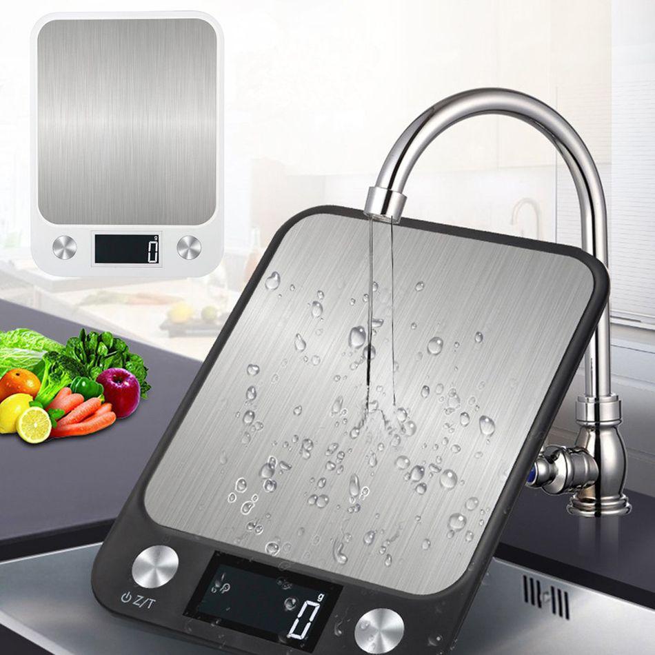 10 kg / 1g multi-funzione cibo digitale alimentare da cucina bilancia in acciaio inox display LCD di pesatura bilancia da cucina bilancia da cucina impermeabile nuovo