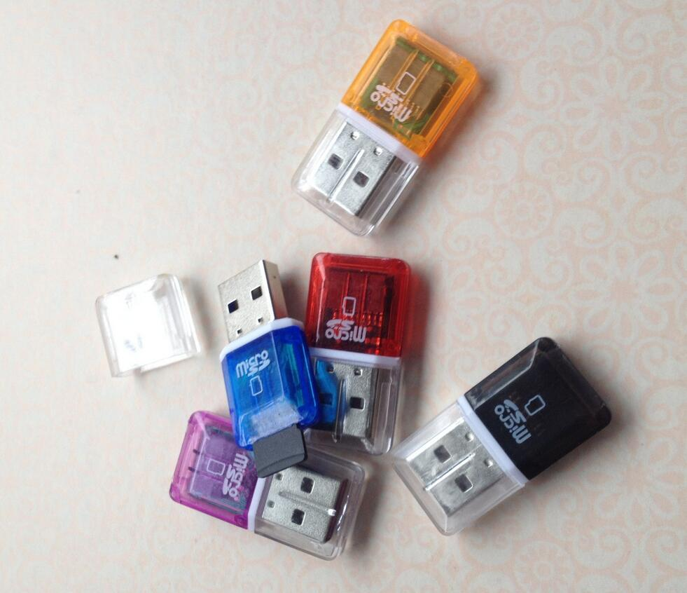 고속 크리스탈 투명 USB 2.0 TF 플래시 T- 플래시 메모리 2GB 4GB 8GB 16GB 32GB 64GB TF 카드 용 플래시 메모리 마이크로 SD 카드 리더 어댑터