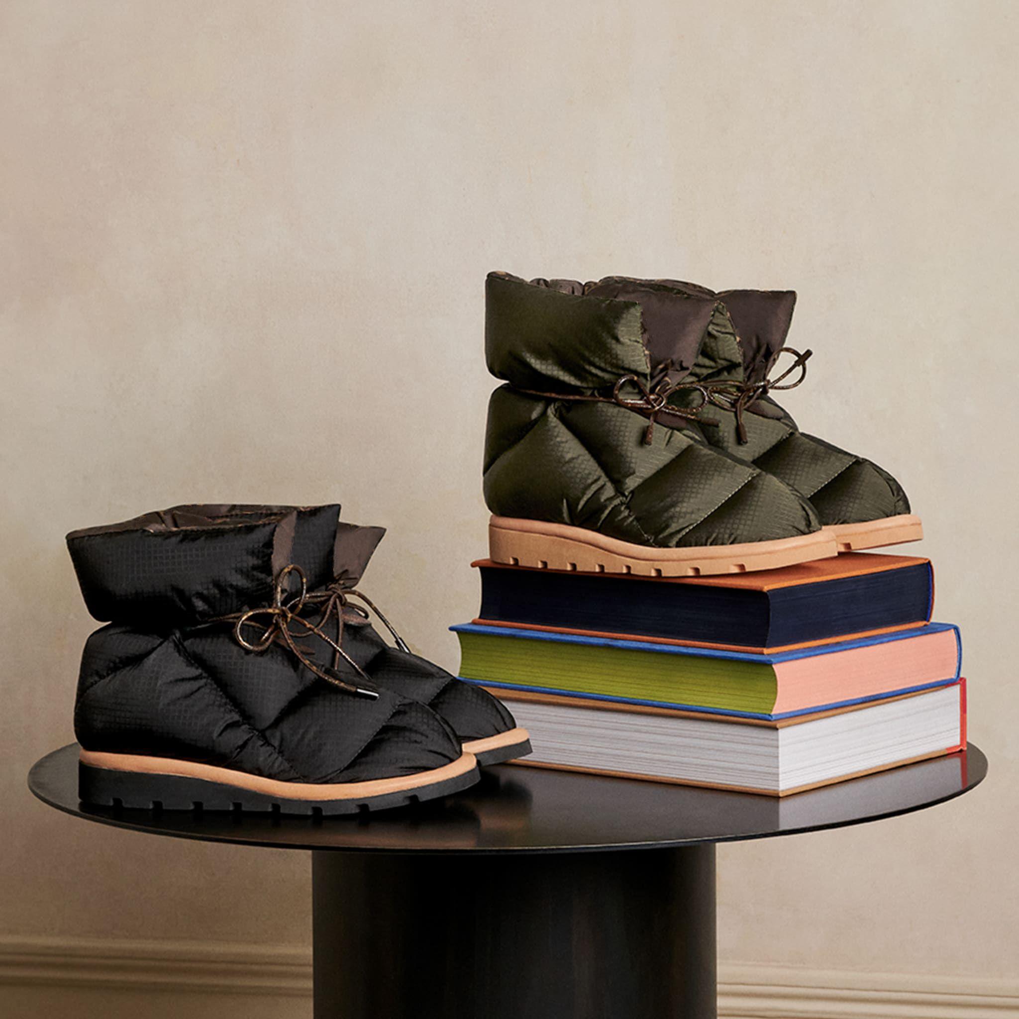Cuscino Comfort Caviglia Stivaletti Donne Soft Down Shoe Designer scarpe piatte Impermeabile Nylon Upper Stivali invernali di buona qualità Big Size 265