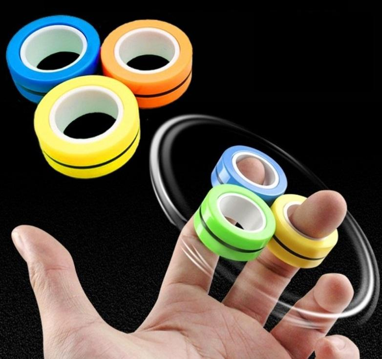 651 Transboundary ring magnet decompression instrument, magnetic ring, magnetic spinning finger top, novelty, entertainment, toys, gift