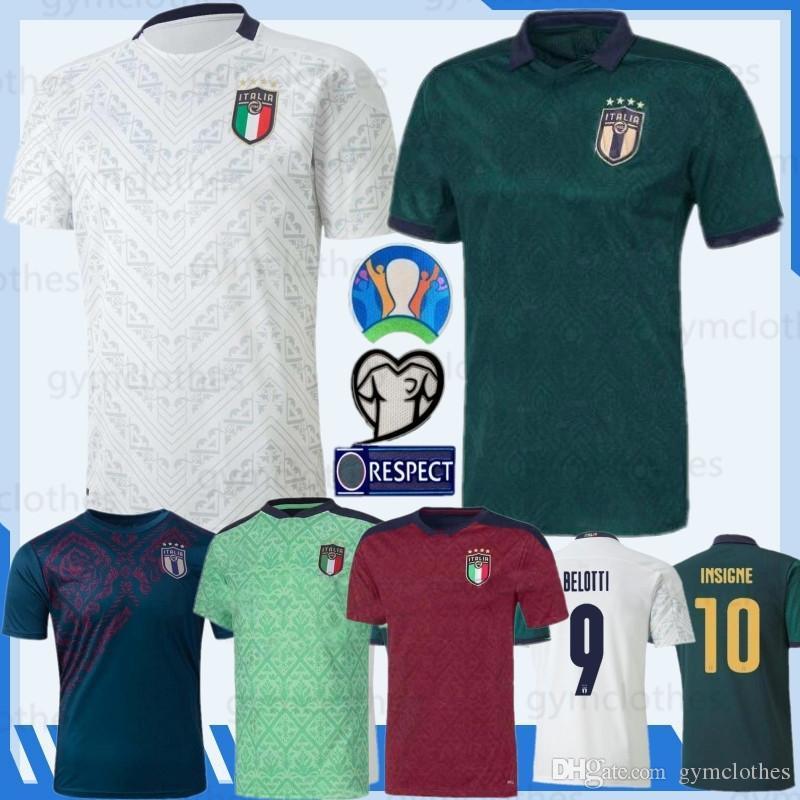 2020 Thai Italia National Football Team 3a Jersey Insigne Bonucci Camicie da calcio CHiellini El Shaarawy Coppa Europea Nuova Jersey di calcio