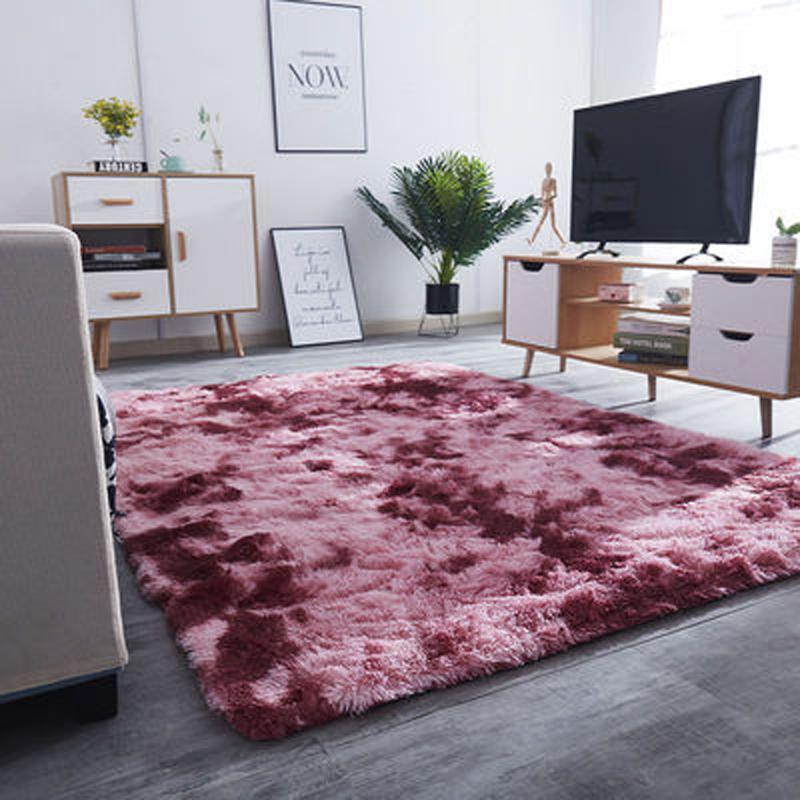 Толстый ковер для гостиной плюшевые пушистые коврики Спальни ковры галстуки окрашивание бархат анти скольжение коврики серые мягкие детские ковры комнаты