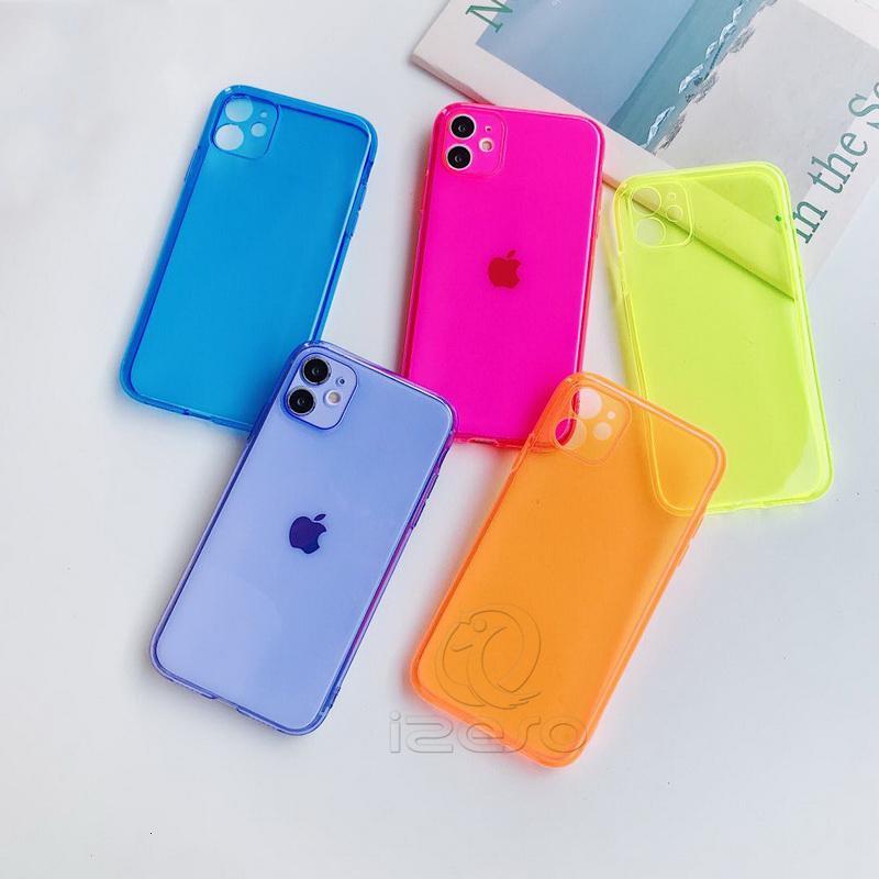 11 Téléphone transparent pour téléphone Candy Protecteur Pro XS Max XR 8 7 Conception de luxe TPU Couvercle de téléphone portable Bon Case Premium IZ