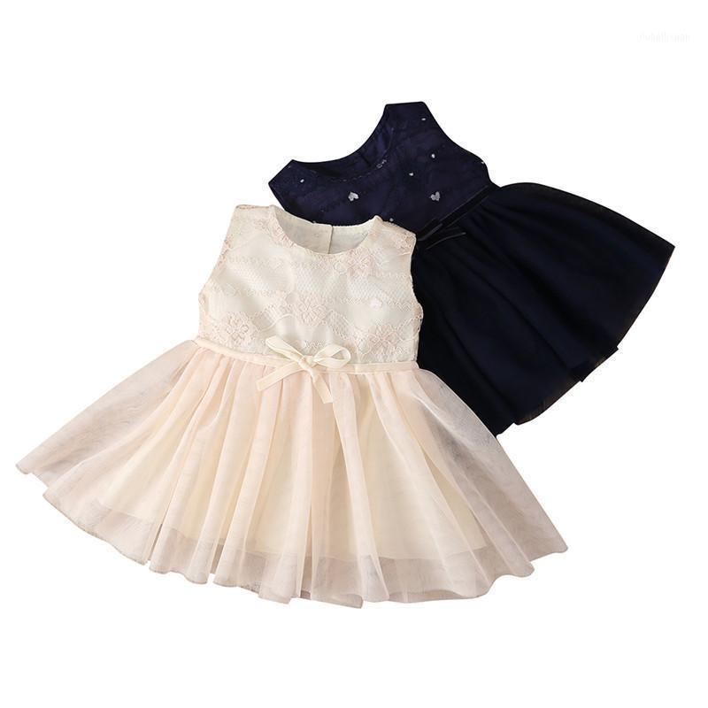 Pudoco Lindo Baby Girl Princess Partido Partido Encaje Floral Vestido Cumpleaños Boda Dama de honor Vestidos Sin mangas Sundress 0-4Y1