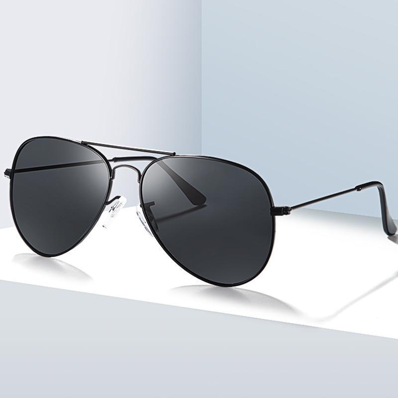 الكلاسيكية الاستقطاب نظارات العلامة التجارية تصميم الرجعية المعادن النساء الرجال القيادة نظارات الشمس uv400 ظلال النظارات