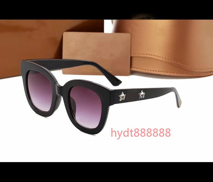 2021 Nuevo diseñador Gafas de sol Marca Gafas Parasol al aire libre PC Frame Fashion Classic Ladies Luxury 0208 Gafas de sol Sombra Espejo Mujer