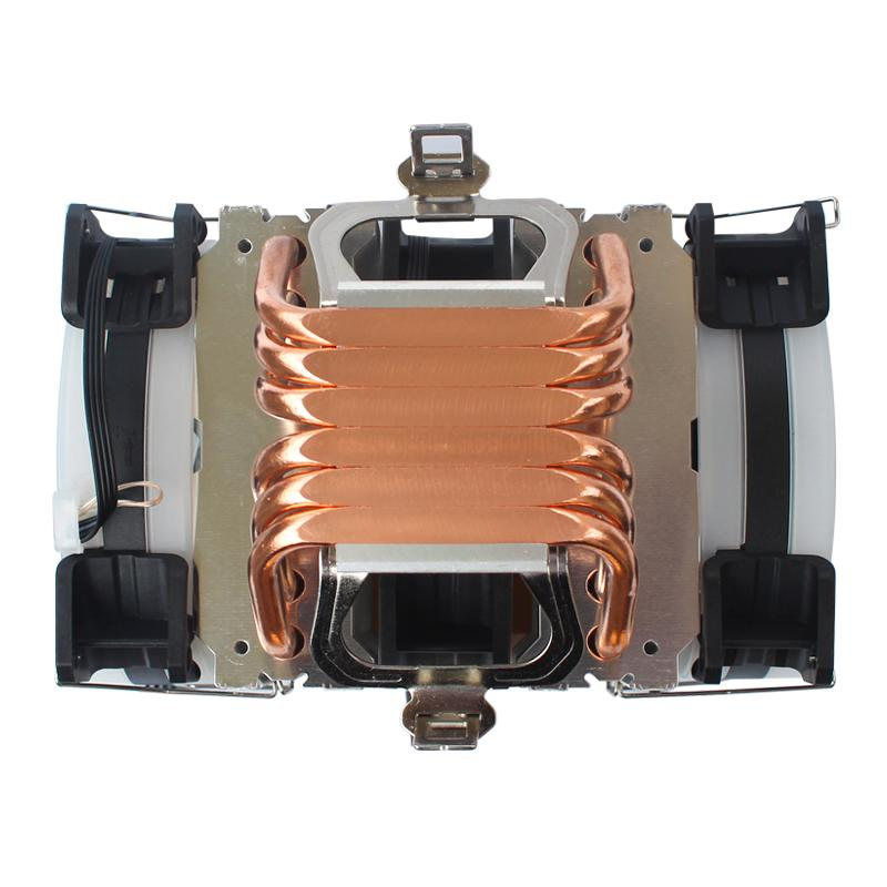 FreeShipping CPU Cooler X79 2011 Высокое Качество 6 Графические трусы Двойная башня RGB Heat Rapic 4Pin PWM Вентилятор для AMD и Intel 115x 775 AM3 AM4 1366 PC