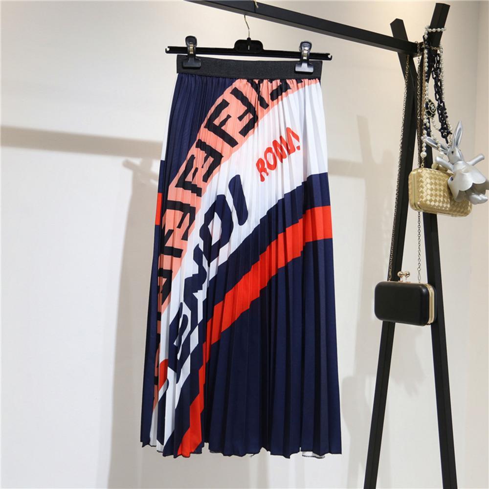 Ollymurs 2020 Yeni Yaz Kadın Etekler Seksi Moda A-Line Etekler Mektup Draped Etek Vestidos Chic Kulübü Akşam Parti Etekler Q1209