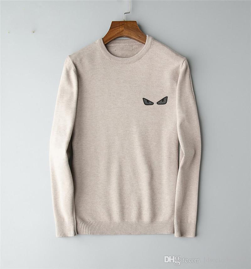 2020 Sweateurs d'automne chaude Hommes Sweater Hommes Mode Lettre à manches longues Imprimer Couple Hiver Hight Quality Vêtements occasionnels