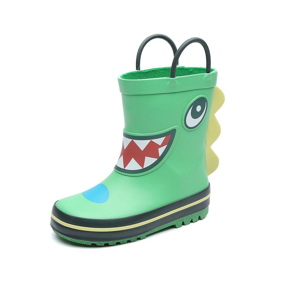 Botas de goma infantil fáciles en zapatos de lluvia de dibujos animados para niños chicas (niño / niño pequeño)