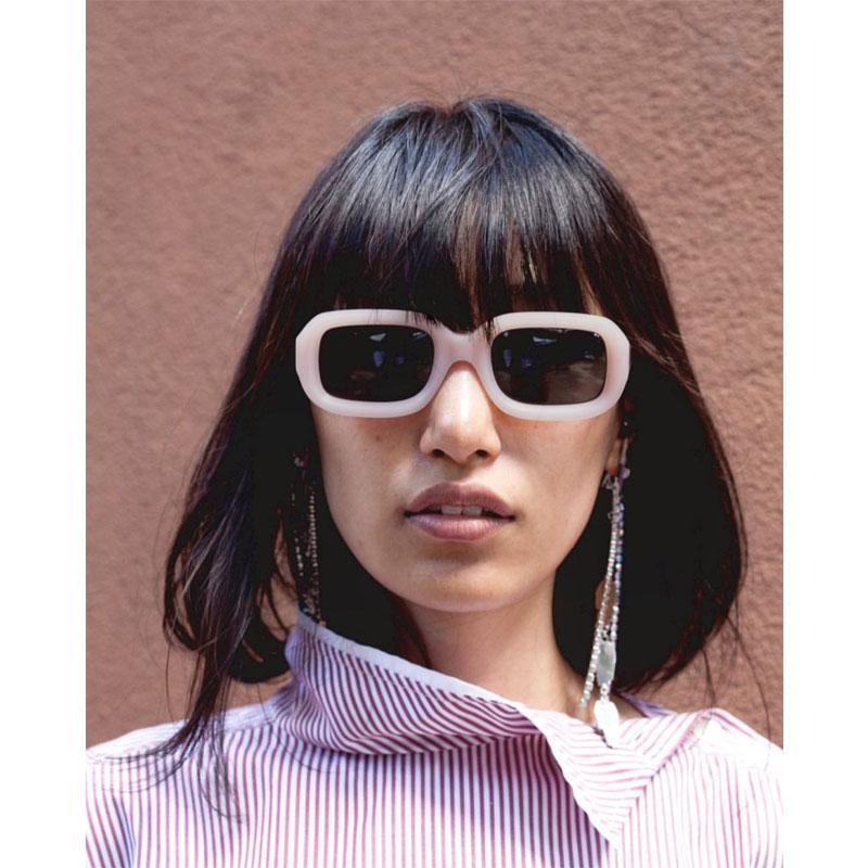 Retro Rectangle Small Female Frame Sunglasses Sun Cutting Women New Fashion Glasses Brand Ladies Vintage Square Designer Shades Nmmvb