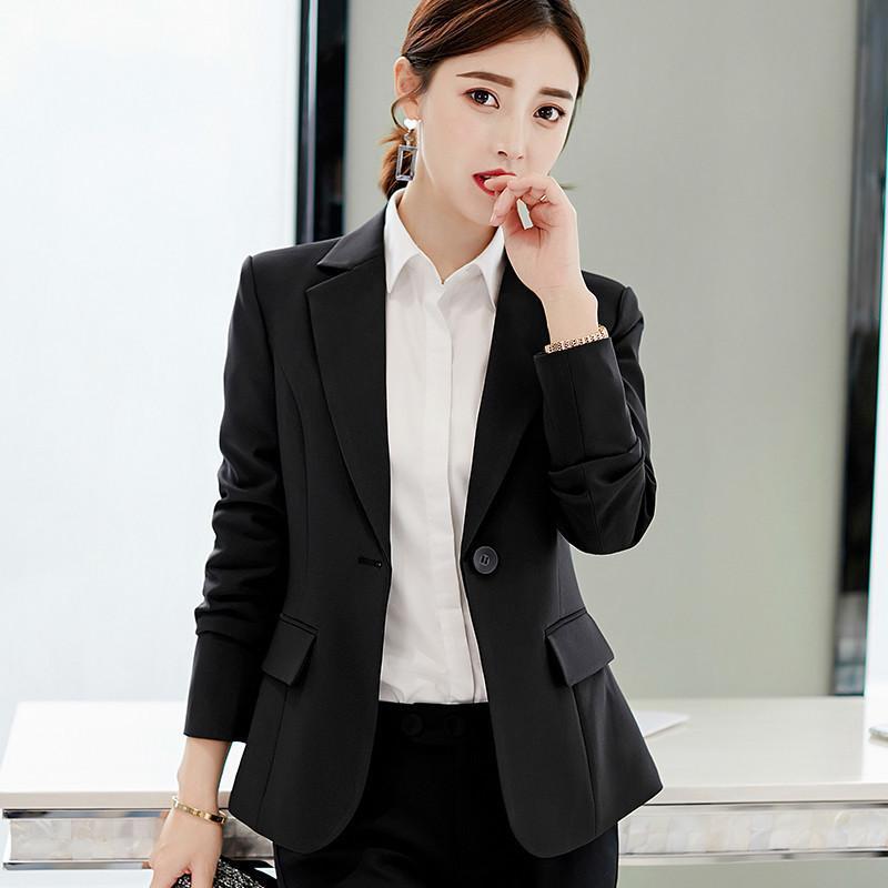 Peonfly otoño señoras blazer manga larga mujer traje chaqueta femenina femenina gris bule rojo negro blazer 201201