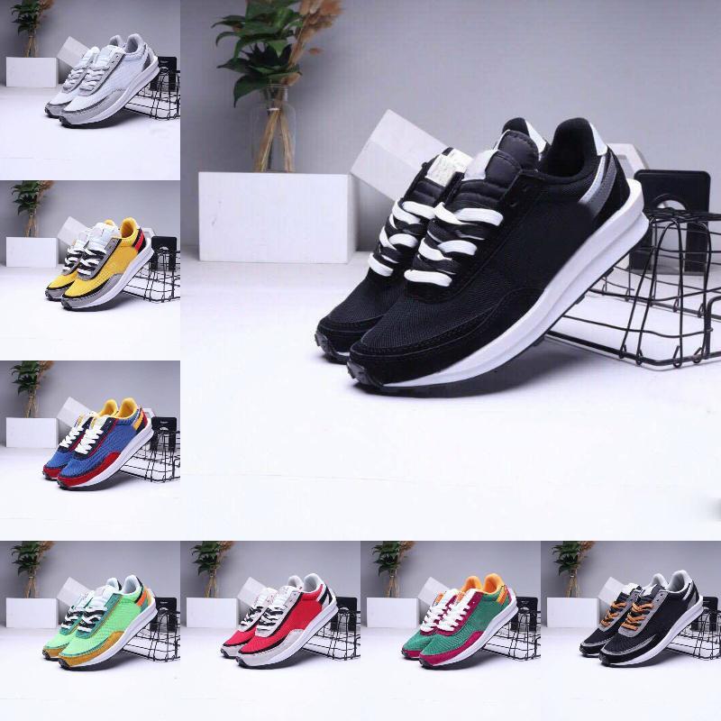 2021 Erkekler Koşu Spor Ayakkabı Tasarımcı LDV Waffle Kadınlar Undercover Waffle Racer Siyah Beyaz Tripe Daybreak Eğitmenler Varsity Açık Sneakers