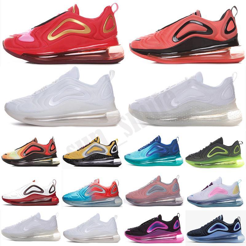 720 Donne da uomo Scarpe da corsa Scarpe Bubble Pack Betuture Midnight Navy Flaming Hot Gradiente Lupo Grigio Mens Chaussures Trainer Sneakers