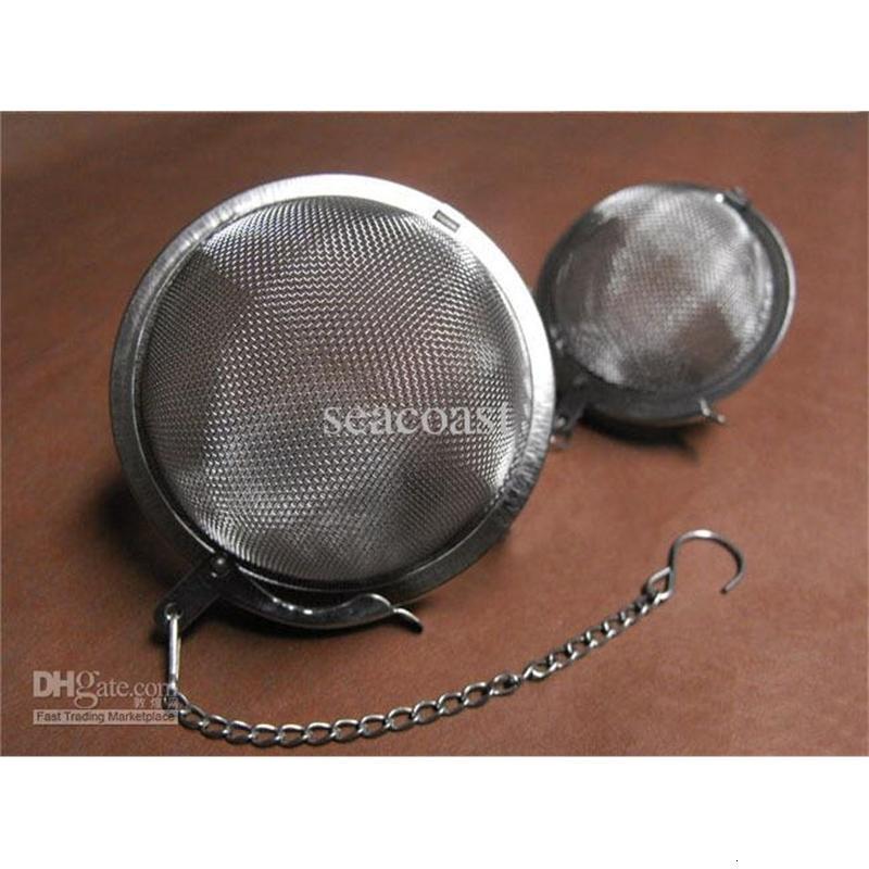 POT 120 adet / grup Küre Paslanmaz Demlik Çelik Örgü Çay Süzgeci Topu 5.5 cm, Gümüş Renk Ücretsiz Kargo